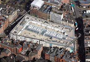 Met Quarter shopping centre  Liverpool Merseyside UK aerial photograph