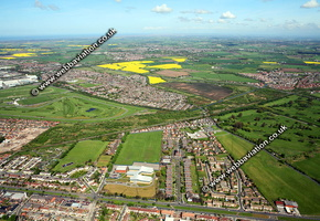 Aintree Liverpool Merseyside UK aerial photograph