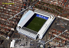 Goodison Park  football stadium Everton  aerial photograph