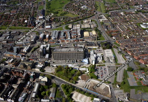 Royal Liverpool University Hospital Liverpool Merseyside UK aerial photograph