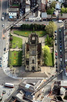 St Lukes Church  Liverpool Merseyside UK aerial photograph