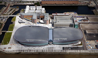 M&S Bank Arena (formerly  Echo Arena Liverpool) aerial photograph
