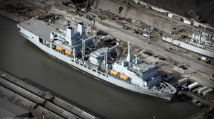 RFA Fort Victoria (A387) aerial photograph