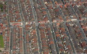 terraced housing in Liverpool   aerial photograph