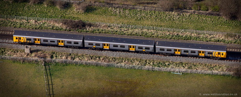 Merseyrail Class 507 electric multiple unit (EMU)  aerial photograph