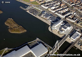 Southport  Merseyside UK aerial photograph