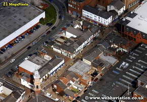 St Helens Merseyside UK aerial photograph