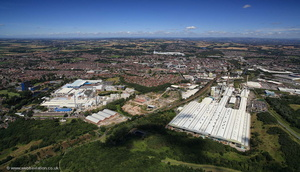 Pilkingtons glass works St Helens  from the air