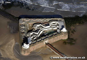 Fort Perch Rock  New Brighton  UK aerial photograph