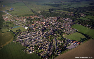 aerial photograph of Acle on the Norfolk Broads England UK