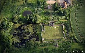 aerial photograph of Baconsthorpe Castle  Norfolk UK