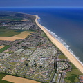 aerial photograph of California , Scratby Norfolk England UK
