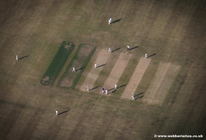cricket match at Flordon  l Norfolk  aerial photo