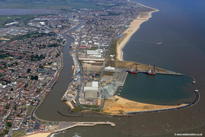Great Yarmouth Outer Harbour  aerial photograph