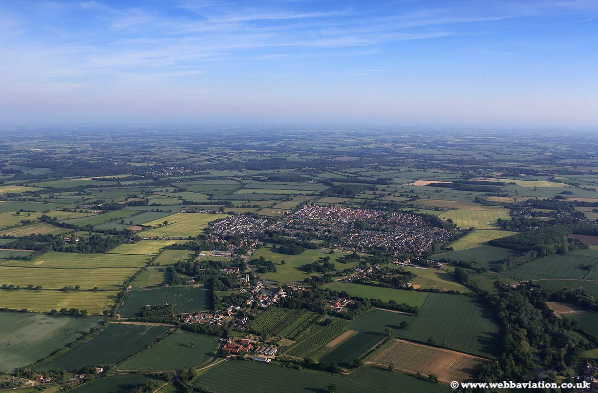 Mulbarton Norfolk  aerial photo
