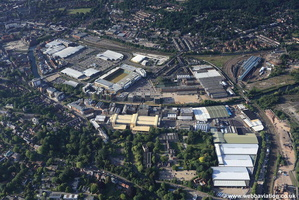 Carrow Works Norwich aerial photo