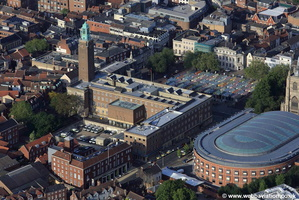 Norwich City Hall aerial photo