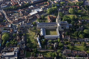 Norwich Cathedral aerial photo
