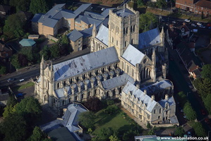 St John the Baptist Cathedral  Norwich aerial photo