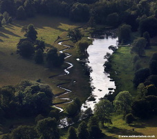 aerial photograph of River Glaven Norfolk UK