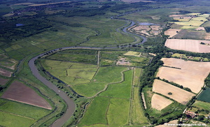 River Waveny aerial photo