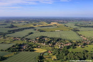 Shotesham Norfolk  aerial photo