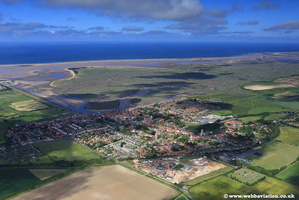aerial photograph of Wells-Next-The-Sea NR23 1AQ Norfolk UK