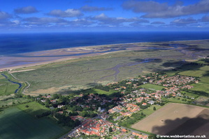 aerial photograph of Brancaster Norfolk England UK