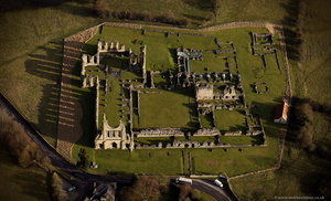 Byland Abbey , North Yorkshire from the air