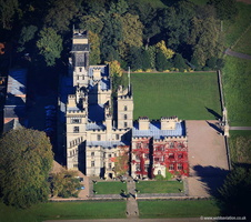 Carlton Towers Yorkshire  aerial photograph