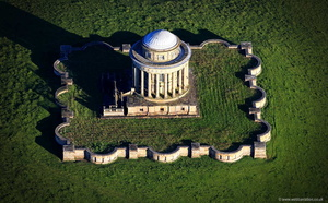 Castle Howard Mausoleum  aerial photograph