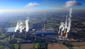 Drax power station  aerial photograph