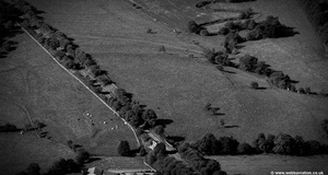 Burwen Castle Roman forts Elslack - OLENACVM.   from the air