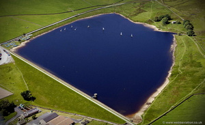 Embsay Reservoir aerial photograph