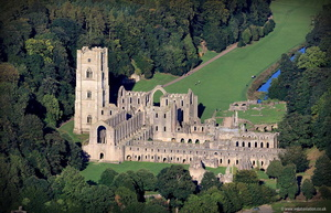 Fountains Abbey Yorkshire  aerial photograph