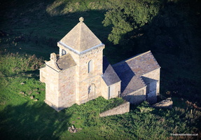How Hill Tower near Fountains Abbey Yorkshire  aerial photograph