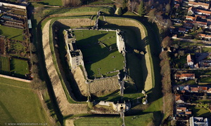 Helmsley Castle from the air