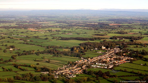 Kirkby Malzeard , North Yorkshire  from the air