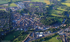 Malton North Yorkshire UK   aerial photograph