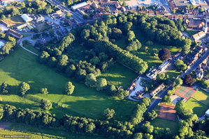 Malton Roman Fort Derventio Brigantum Malton North Yorkshire UK   aerial photograph