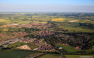 Malton Yorkshire UK  aerial photograph