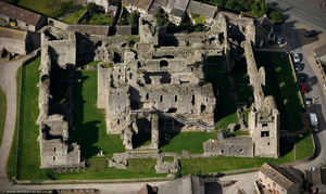 Middleham Castle from the air