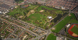 Albert Park Middlesbrough aerial photograph
