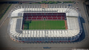 The Riverside Stadium Nottingham, aerial photograph