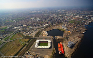 Middlesbrough Docks aerial photograph