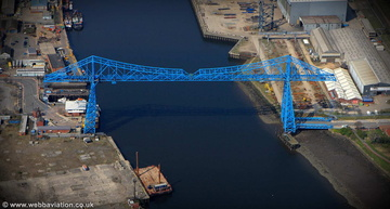Middlesbrough Transporter Bridge aerial photograph