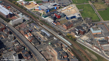 Middlesbrough railway station aerial photograph