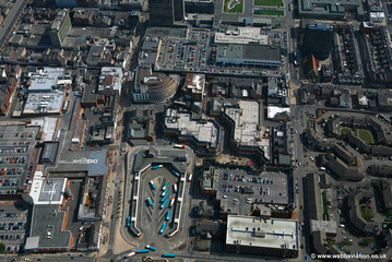 Middlesbrough town centre aerial photograph