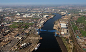 River Tees aerial photograph
