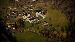Rievaulx Abbey , North Yorkshire from the air